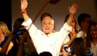 El discurso de Piñera anoche buscó cosechar el primer apoyo para el balotaje. Foto: Reuters