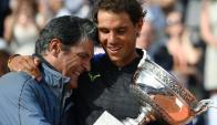 """Toni"" Nadal y Rafael Nadal. Foto: AFP."