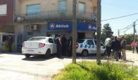 El local de Abitab que fue asaltado. Foto: Leonardo Pedrouza.