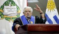 Mujica recibió un doctorado Honoris Causa de la Universidad de Panamá. Foto: EFE