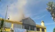 Incendio en Paso de los Toros. Foto: Captura de Pantalla