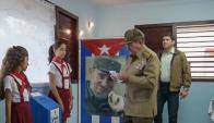 Raúl Castro votó ayer en los comicios municipales. Foto: AFP