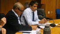 Raúl Sendic ante la Comisión investigadora de financiamiento a las campañas electorales. Foto: Ariel Colmegna.