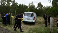Las Vegas: el cuerpo de Brissa fue encontrado a 200 metros de la Ruta Interbalnearia. Foto: M. Bonjour