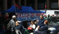 Sindicato del Gas amenaza con huelga de hambre. Foto: Ariel Colmegna