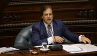 Luis Lacalle Pou en comparecencia de ministros por UPM. Foto: Francisco Flores
