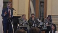 La actividad contó con la participación de tres oradores: Martín Redrado, Gabriel Oddone y Hernán Kamil. Foto: F. Flores