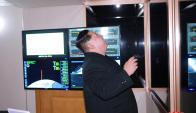 Kim Jong-un en el momento en que se lanzó el misil. Foto: Reuters