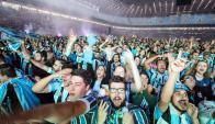Hinchas de Gremio en el Arena do Gremio. Foto: Conmebol