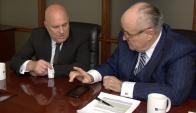 Giuliani con Novick: el exalcalde redujo la inseguridad. Foto: Prensa Novick