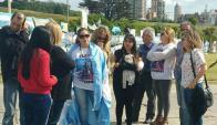 Familiares de los tripulantes del ARA San Juan en Mar del Plata. Foto: La Nación   GDA