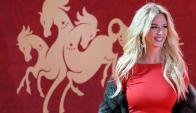Victoria Lopyreva en el sorteo del Mundial. Foto: EFE
