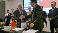 Convenio entre INAC y China Certification & Inspection Group. Foto: R. Figueredo