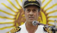 Vocero de la Armada argentina Enrique Balbi. Foto: LA NACION / Fabián Marelli
