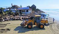 Aguas Dulces: el mar se tragó, hace un año, 22 viviendas que estaban en la costa del balneario. Foto: F. Ponzetto
