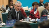 El ministro de Economía francés, Bruno Le Marie en Pekín. Foto: AFP