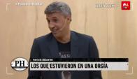 Hernán Crespo confesó haber participado de una orgía