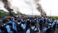 Honduras: un país bajo toque de queda. Foto: AFP