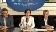 CFK habla en conferencia de prensa. Foto: Captura de video