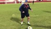 Diego Maradona en el Al Fujairah. Foto: @maradona