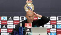 Zinedine Zidane en conferencia de prensa. Foto: EFE