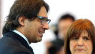 Los ministros Germán Garavano y Patricia Bullrich. Foto: Reuters