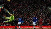 Mohamed Salah golazo en Liverpool-Everton