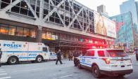Explosión en NY. Foto: AFP
