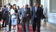 Nin Novoa y Aguerre integraron la delegación uruguaya. Foto: Presidencia