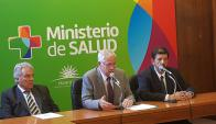 Ministro de Salud Pública, Jorge Basso. Foto: Twitter @MSPUruguay