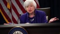 Yellen: la presidenta de la Fed dio su última conferencia. Foto: AFP