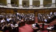 Duro debate en Diputados por la ley de violencia de género. Foto: Marcelo Bonjour