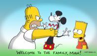 Los Simpson le dan la bienvenida a Disney