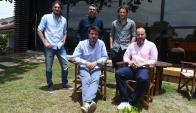 Socios. Pablo y Diego Forlán y Augusto Ricciardi, y por Sinergia Martín Larre y Rafael Valek. (Foto: Ariel Colmegna)