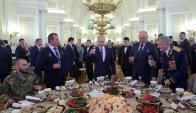 Putin ayer en una recepción para conmemorar el Día de los Héroes de la Patria en el Kremlin. Foto: Reuter