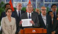 Kuczynski: esta complicado por sus vínculos en el pasado con la constructora Odebrechet. Foto: Reuters
