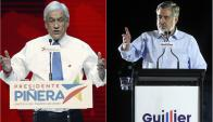 Sebastián Piñera y Alejandro Guillier se disputan este domingo la presidencia. Foto: Agencias