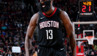 James Harden, figura de los Houston Rockets. Foto: AFP