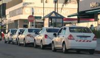 En alerta: Taxistas de Maldonado rachazan la llegada de Uber. Foto: R. Figueredo