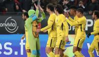 El PSG festeja con las tortugas ninja