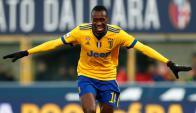 Blaise Matuidi celebra uno de los goles de la Juve