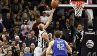 Manu Ginóbili le dio la victoria a San Antonio Spurs