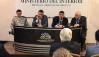 """Ministerio del Interior en conferencia de prensa por el """"Operativo Mirador"""". Foto: Pablo Melgar"""