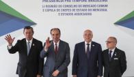 Los cancilleres mantuvieron una reunión preparatoria de la cumbre de presidentes. Foto: @mercosur