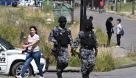 El operativo no tuvo que ver con el asalto a la remesa. Foto: A. Colmegna