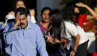 El presidente Nicolás Maduro y la presidenta de la Constituyente, Delcy Rodríguez. Foto: Reuters