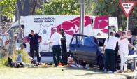Cinco heridos en accidente en Maldonado. Foto: Ricardo Figueredo