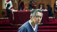 Alberto Fujimori  durante uno de sus juicios. Foto: AFP