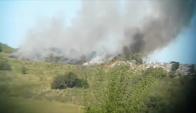 Incendio en vertedero de basura. Foto: Néstor Araújo