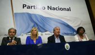 Conferencia de prensa del directorio del Partido Nacional. Foto: Ariel Colmegna.